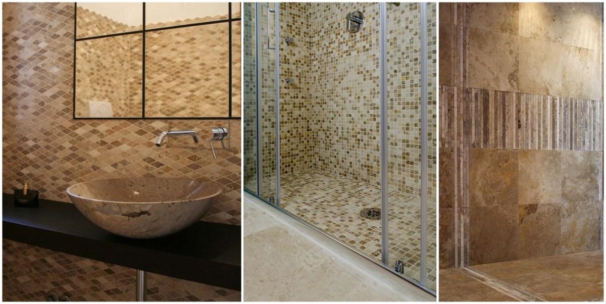 Mosaici in pietra naturale per rivestimento bagni - Immagini mosaico bagno ...