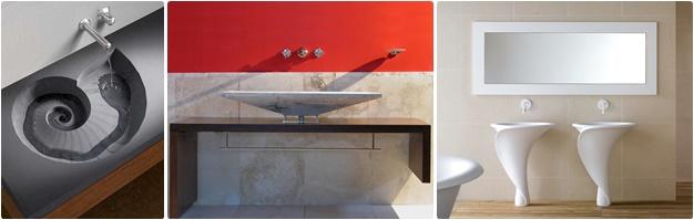 Lavabi di desig: Scavati, Composizioni legno e Pietra, Forme