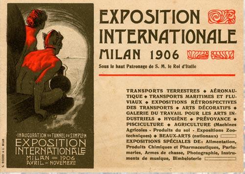 expo milan 1906 sempione invitation esposiione universale vintage architecture