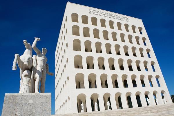 palazzo civiltà italiana eur esposizione universale rome 1942 expo2015 architecture