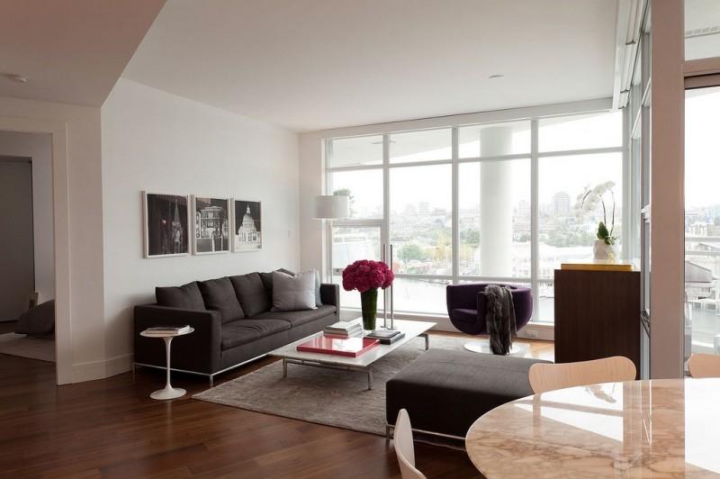 appartamento a vancouver con dettagli in marmo