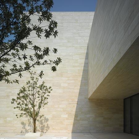 liangzhu-culture-museum-architettura museo ambiente pubblico travertino chiaro rivestimenti