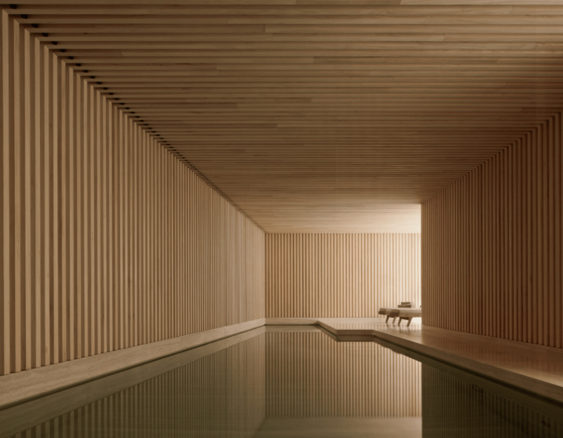 david-chipperfield-londra-spa-abitazione-privata-piscina-sotterranea-wood-lxury-spa-swimming-pool