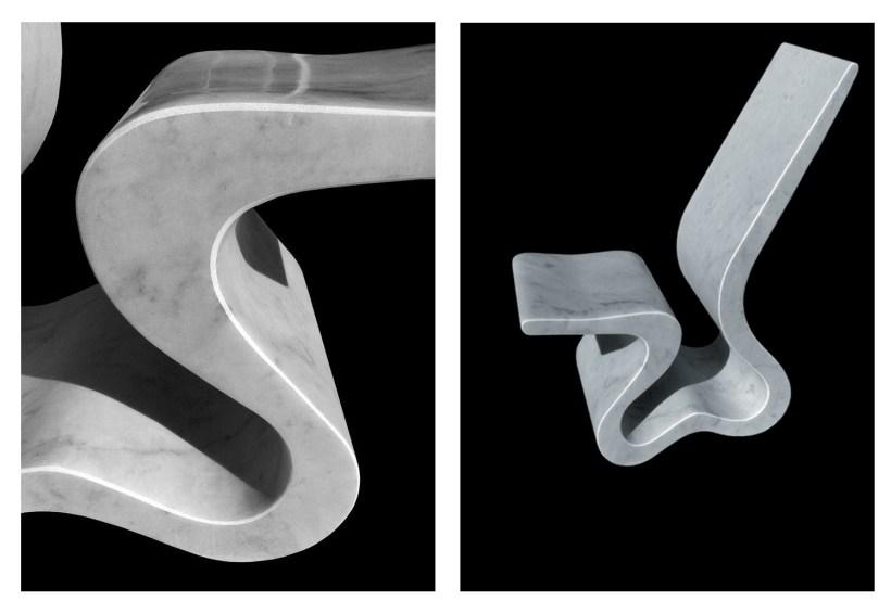 design victor gingembre scultura marmo marble chair