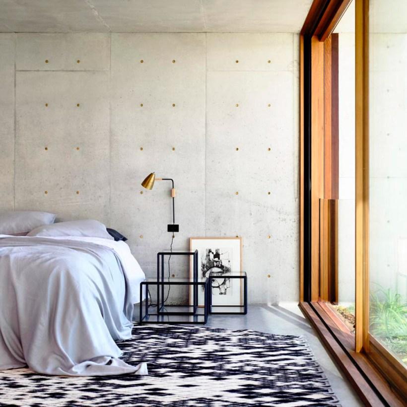 camera da letto torquay concrete house interni legno cemento armato