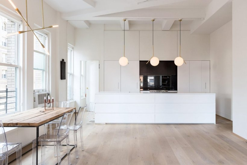 interni cucina minimale loft new york
