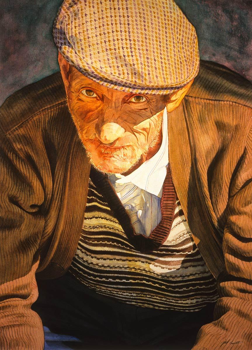 Watercolor of Present Tense