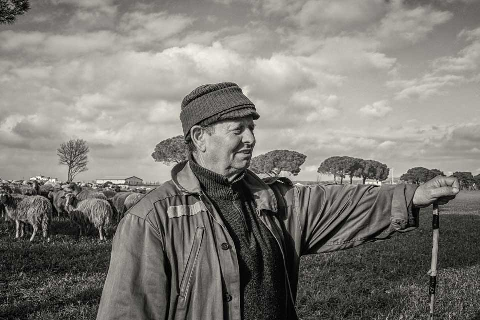 Originally from Sardegna, this shepherd now tends his flock in the Maremma.