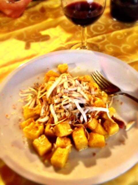 "My new front runner of culinary delights is ""Gnocchi di polenta"", a discovery we made while visiting friends in Udine."