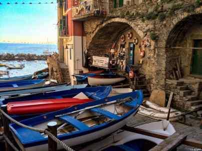 Barche sulla darsena di Riomaggiore