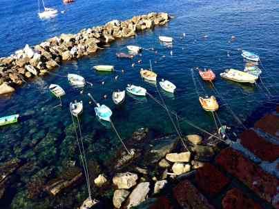 Imbarcazioni armeggiate a Riomaggiore