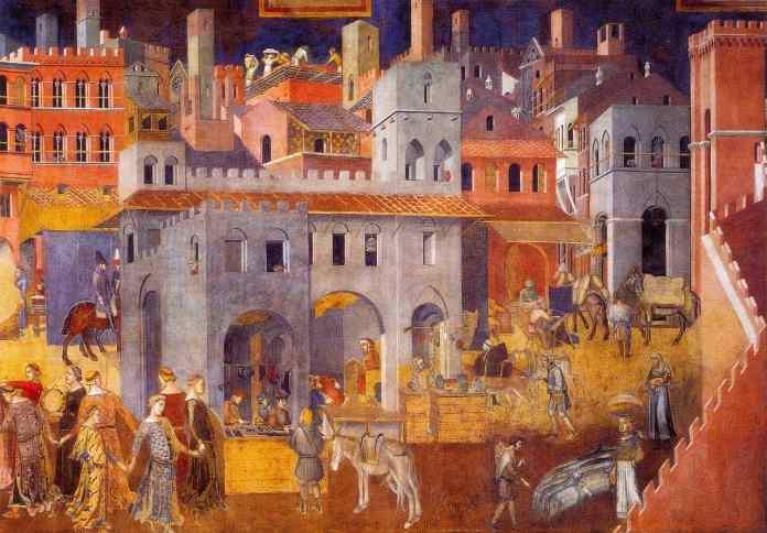 Siena, Buon Governo di Pietro Lorenzetti