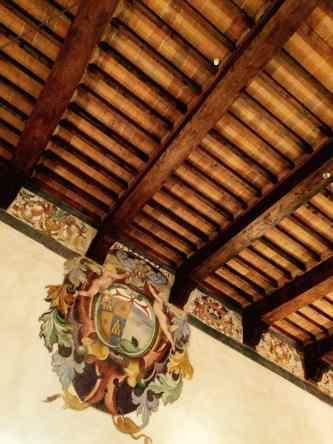 San Giovanni d'Asso, Soffitto della sala di Degustazione