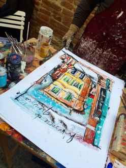 Laboratorio di pittura a Chiusure, durante la festa Chiusure in Piazza