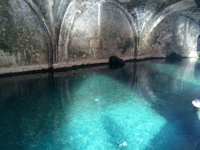 L'acqua di Fontebranda, una delle fonti più belle di Siena