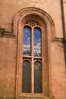 Finestra del Duomo di Pienza, lato sinistro