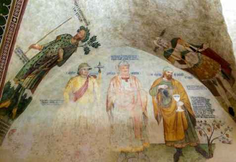 Lucignano, affreschi nella Sala delle Udienze