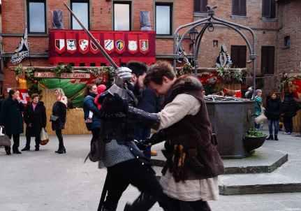 Armati al Palio dei Somari di Torrita di Siena