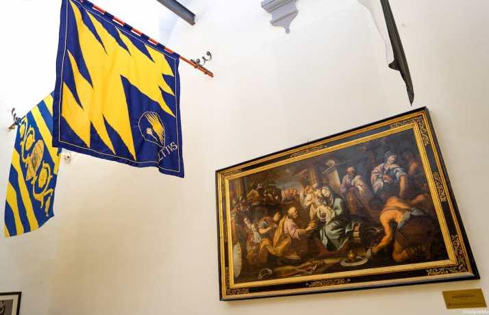 L'Adorazione dei Magi, dipinto da cui il quartiere Ruga ha tratto il proprio emblema