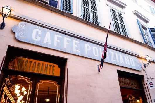Il caffè Poliziano di Montepulciano, locale storico d'Italia