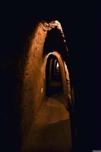 Cunicoli autenticamente etruschi collocati presso il Labirinto di Adriano ad Orvieto