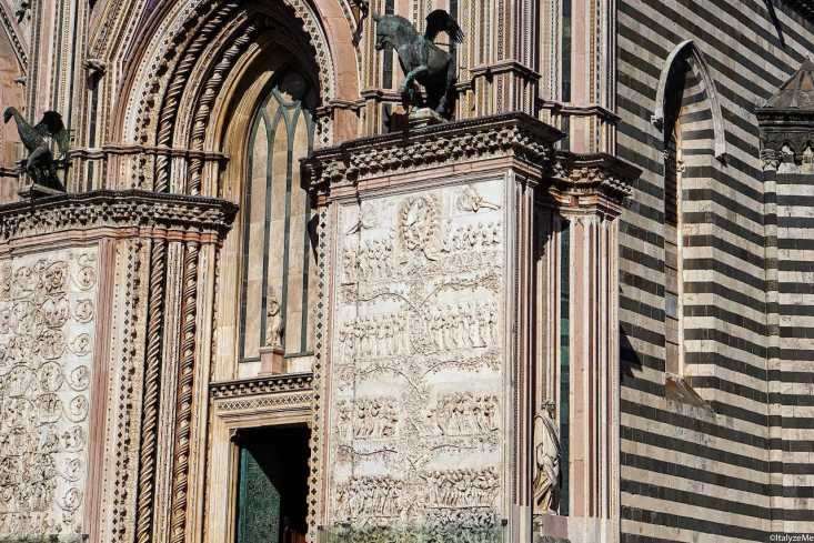 La facciata del Duomo di Orvieto conferma un legame profondo con la vite e la diffusione di questa nel territorio orvietano
