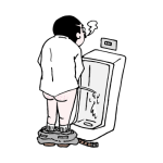 トイレで小便を足すおっさん