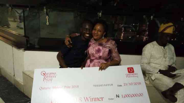 Michael Emmanuel with Mom, at Quramo Prize 2018