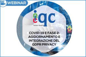 Webinar Covid19 Aggiornamento e Integrazione Privacy