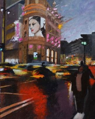 Le Printemps by night - Huile sur toile - 92 x 73 cm