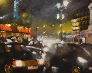 Samedi à Pari - Huile sur toile - 81 x 100 cm