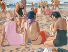 (Maurice Denis, Plage de Trestrignel Les premiers pas d'Antoine, 1929 - 65 x 80 cm