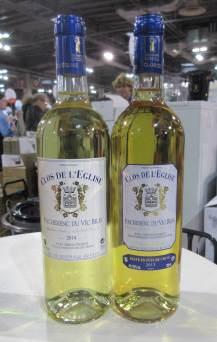 Les deux bouteilles de moelleux du Clos de l'Eglise