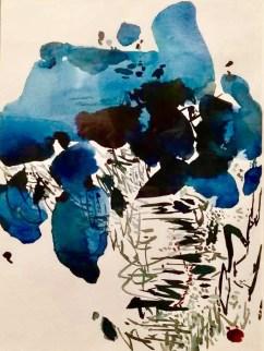 Sumeru, aquarelle, acrylique, encre de Chine sur papier par LI Hesban