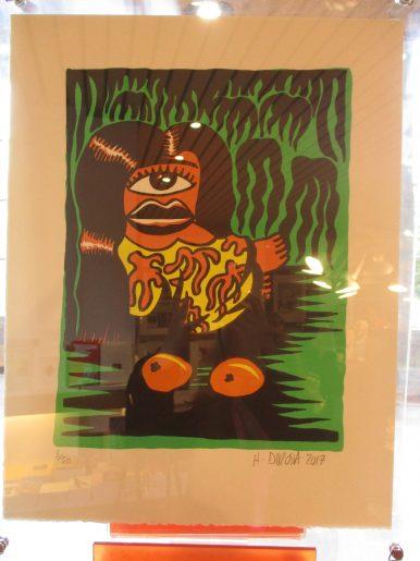 Renée des Îles - gravure sur linoleum - tirage limité à 50 exemplaire - 400 €