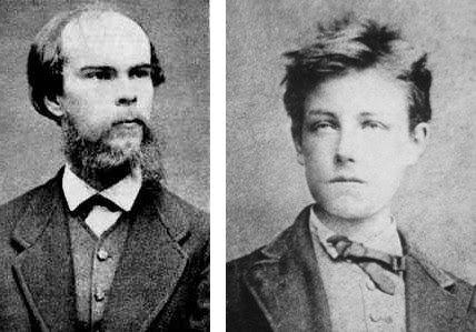 Arthur Rimbaud et Paul Verlaine