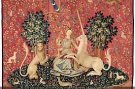Tenture de la Dame à la Licorne : la Vue Tapisserie, vers 1500 Cl. 10836 © RMN-Grand Palais (musée de Cluny - musée national du Moyen-Âge) / M. Urtado