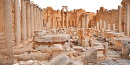 Image 3D de la basilique de Leptis Magna, Libye