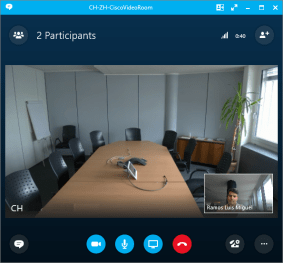 Skype user view