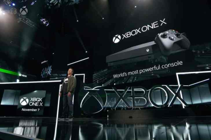 Microsoft unveiled Xbox one x