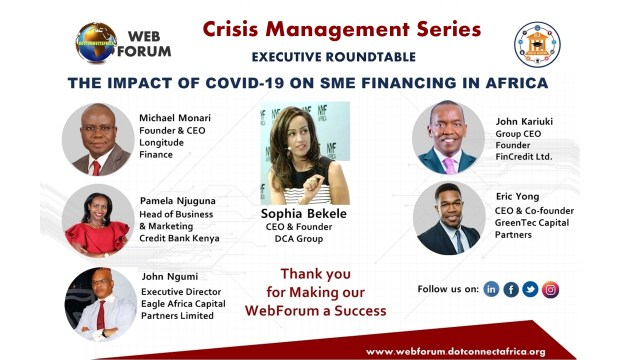 DCA WebForum Series 3 Executive Roundtable The Impact of COVID-19 on SME Financing in Africa
