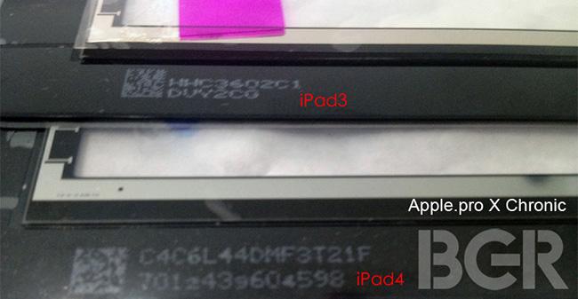 Первые фотографии дисплея iPad 4