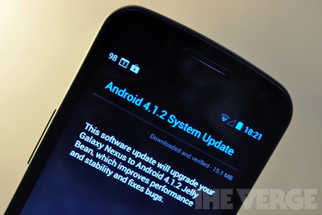 Обновление Android 4.1.2 вышло для Google Nexus S, Galaxy Nexus и Motorola Xoom