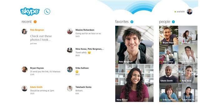 Microsoft анонсировала версию Skype для Windows 8