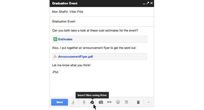 Через Gmail благодаря Google Drive можно будет отправлять файлы до 10 ГБ