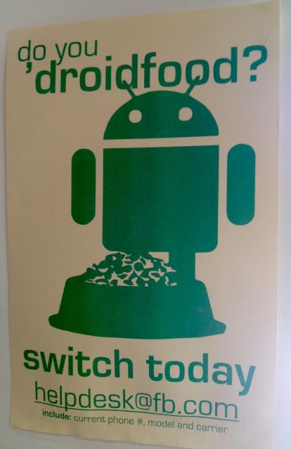 Facebook начал уговаривать своих сотрудников переходить на Android