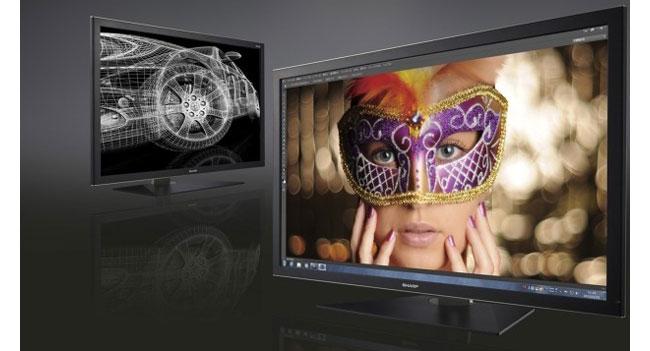 Sharp намерена вывести на рынок профессиональный монитор с разрешением 4K