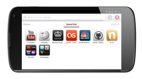 Обзор браузера Opera для Android (beta)