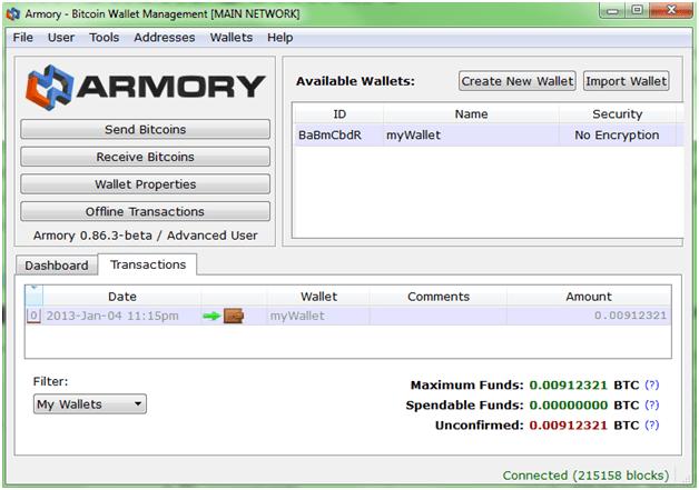 Armory – альтернативный, но полностью легитимный клиент электронной платежной системы Bitcoin