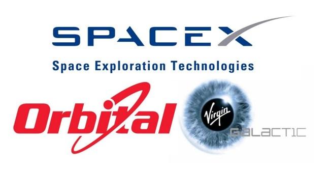 Компании SpaceX, Orbital Sciences и Virgin Galactic – «три кита» современного рынка частных космических перевозок